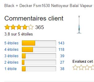 Avis nettoyeur vapeur Black & Decker Fsm1630